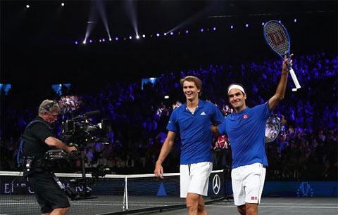 Tháng trước, Federer và Zverev đã có tour du đấu qua 5 nước Nam Mỹ