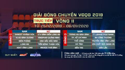 Giải bóng chuyền VĐQG 2019 vòng II trực tiếp duy nhất trên VTVcab