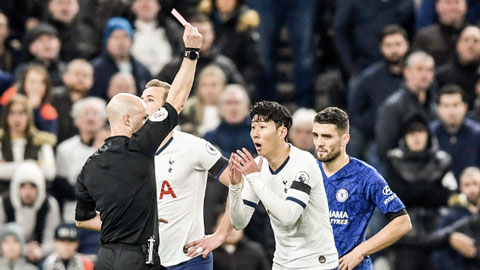 Son Heung-min bị treo giò 3 trận vì thẻ đỏ sau khi đạp Ruediger