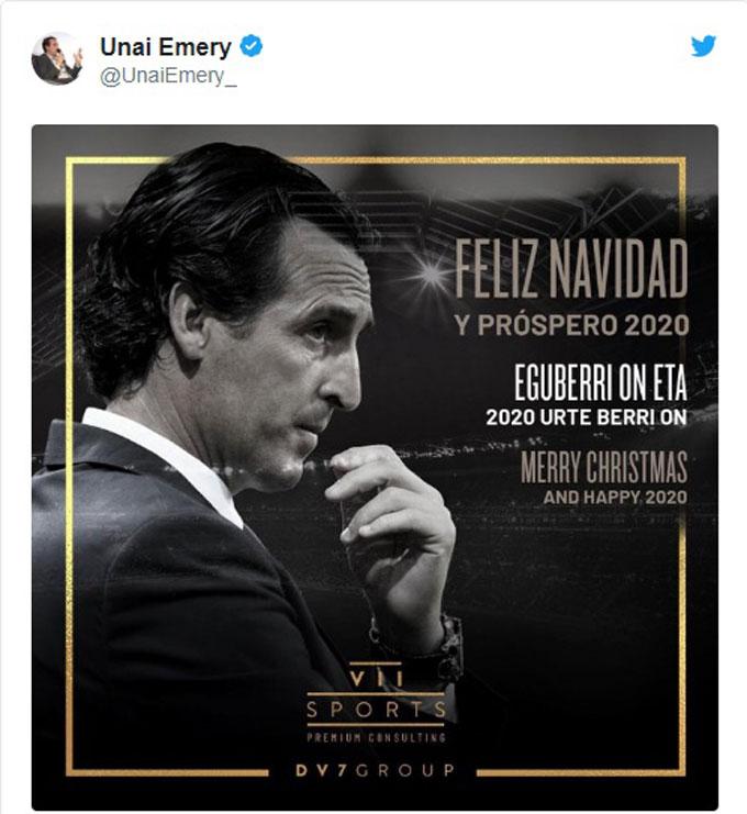 HLV Unai Emery đón Giáng sinh mà không bận rộn như mọi năm do đang... thất nghiệp