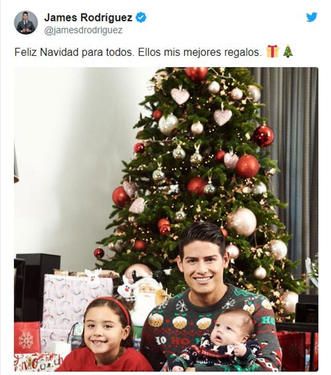 Tiền vệ James Rodriguez cùng 2 thiên thần nhỏ của mình