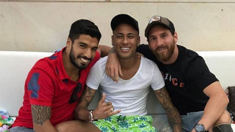 Neymar và Messi tái ngộ tại lễ kỷ niệm 10 năm ngày cưới của Suarez