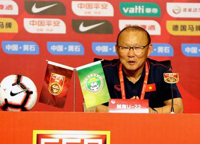 Ông Park nhấn mạnh tinh thần là sự khác biệt giữa bóng đá Việt Nam và Trung Quốc