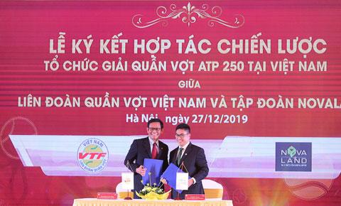 Ký hợp đồng tài trợ giữa VTF và Novaland