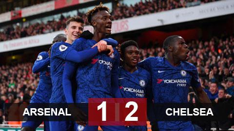 Arsenal 1-2 Chelsea: The Blues ngược dòng trong 4 phút