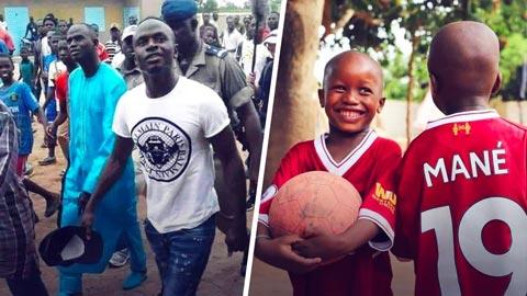 Mane là một người hùng ở quên nhà Senegal bằng những hành động từ thiện của mình