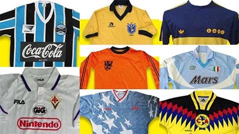 20 mẫu áo đấu ấn tượng nhất lịch sử làng bóng đá