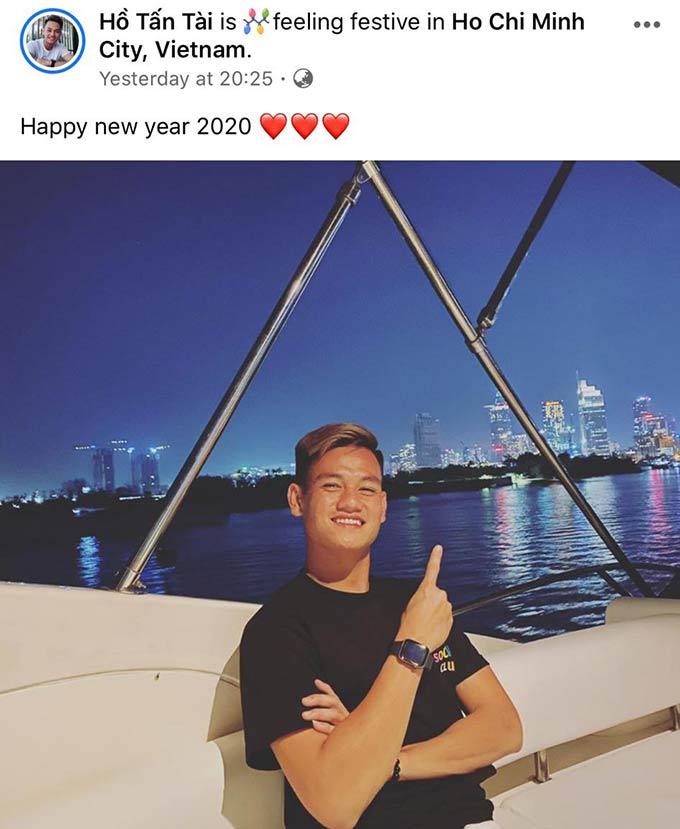 Hồ Tấn Tài đón năm mới trước khi cùng U23 Việt Nam sang Thái Lan chuẩn bị cho VCK U23 châu Á 2020