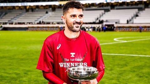David Villa giải nghệ bằng chức vô địch lịch sử tại Nhật Bản