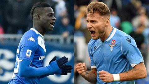 Màn so tài giữa 2 chân sút thượng thặng Balotelli (trái) và Immobile sẽ rất đáng chờ đợi