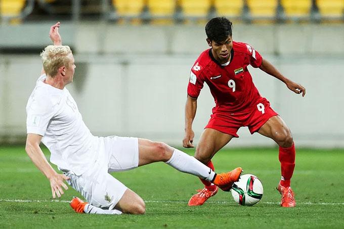 Aung Thu giờ là ngôi sao sáng nhất của bóng đá Myanmar