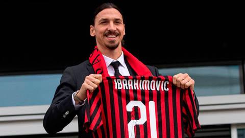 Ibra ghi bàn ngay ngày đầu trở lại Milan