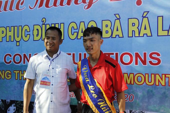 Hoàng Nguyễn Thanh về nhất ở cự ly 7,7 km tuyển nam. Ảnh: Ngọc Tấn