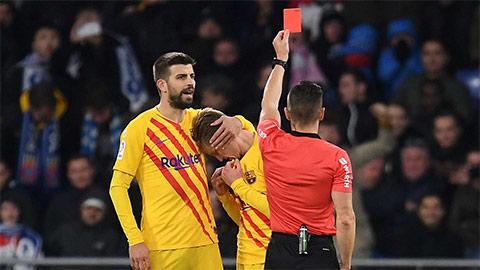 Barca được hay mất sau chiếc thẻ đỏ của De Jong?