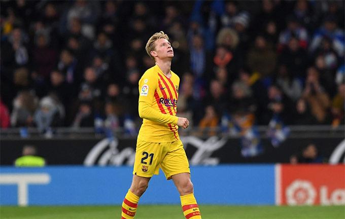 De Jong không giấu được sự thất vọng lúc rời sân