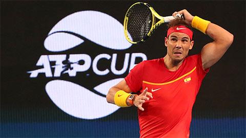 Nadal hạ Basilashvili, ĐT Tây Ban Nha thắng dễ ở ATP Cup 2020