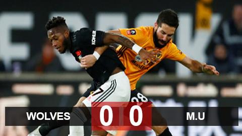 Wolves 0-0 M.U: May mắn không thua, Quỷ đỏ run rẩy chờ đá lại