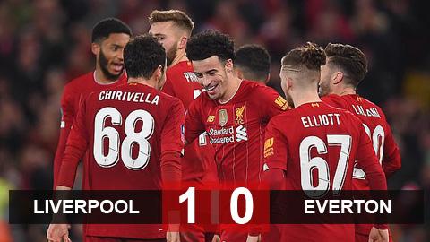 Liverpool 1-0 Everton: Những đứa trẻ của Klopp hiên ngang vào vòng 4 FA Cup