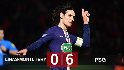 Linas-Montlhery 0-6 PSG: Không Mbappe và Neymar, Cavani toả sáng đưa PSG đi tiếp