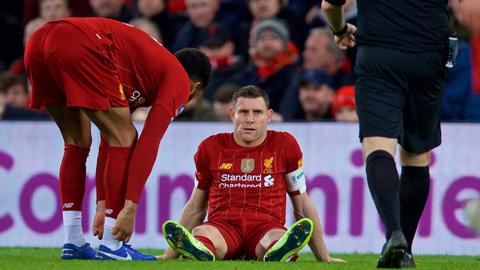 Klopp đau đầu vì chấn thương của James Milner