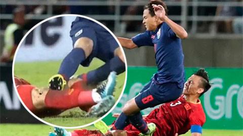 Cầu thủ Thái Lan chơi xấu Ngọc Hải, Văn Hậu nhận cái kết đắng ở Nhật Bản