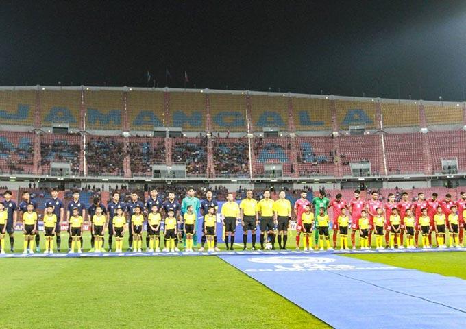 Sân Rajamangala còn rất nhiều chỗ trống khi U23 Thái Lan đá trận mở màn với U23 Bahrain