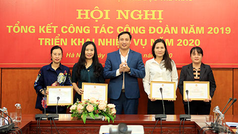 Công đoàn Tổng cục TDTT tổ chức Hội nghị tổng kết công tác năm 2019, phương hướng năm 2020