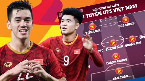 Đội hình dự kiến của U23 Việt Nam vs U23 UAE: Đình Trọng dự bị?