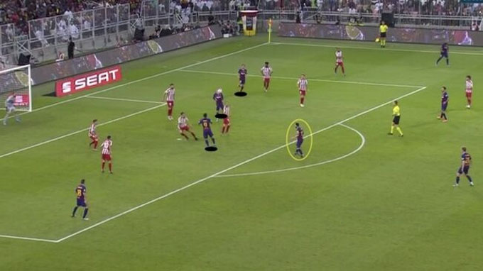 Messi phần nào phát huy được sự lợi hại trong vai trò ngòi nổ