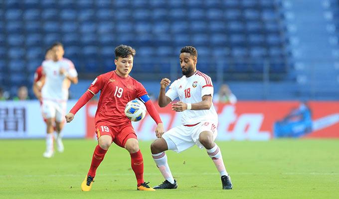 U23 Việt Nam nhập cuộc đầy tự tin trước U23 UAE - Ảnh: Minh Tuấn