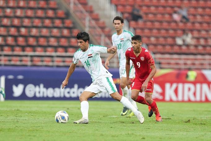 U23 Iraq đã trải qua trận hòa hú vía trước U23 Bahrain