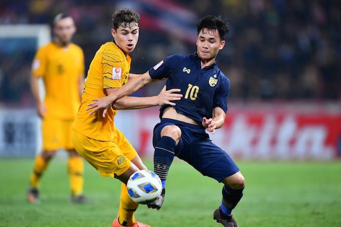 Trận đấu giữa Australia - Thái Lan diễn ra rất hấp dẫn