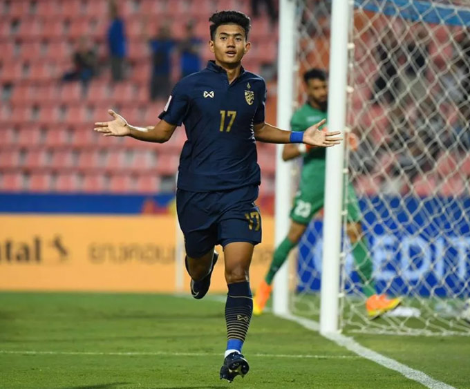 Suphanat chơi nổi bật ở lượt đầu VCK U23 châu Á 2020