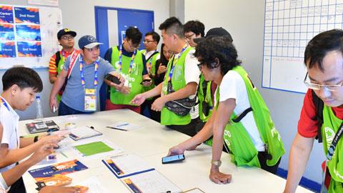 """Trong một số trường hợp, phóng viên không được tự do hoạt động theo kiểu """"một công đôi việc"""" tại VCK U23 châu Á 2020Ảnh: MINH TUẤN"""
