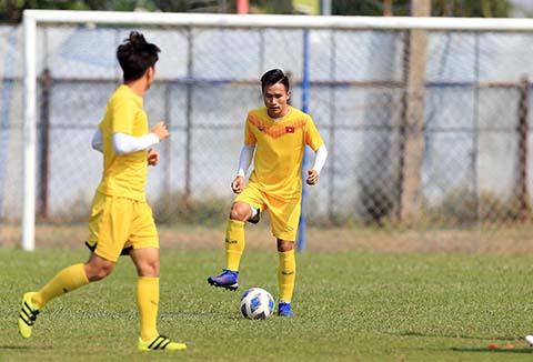 Triệu Việt Hưng có thể đá chính trong trận đấu với U23 Jordan. Ảnh: Minh Tuấn