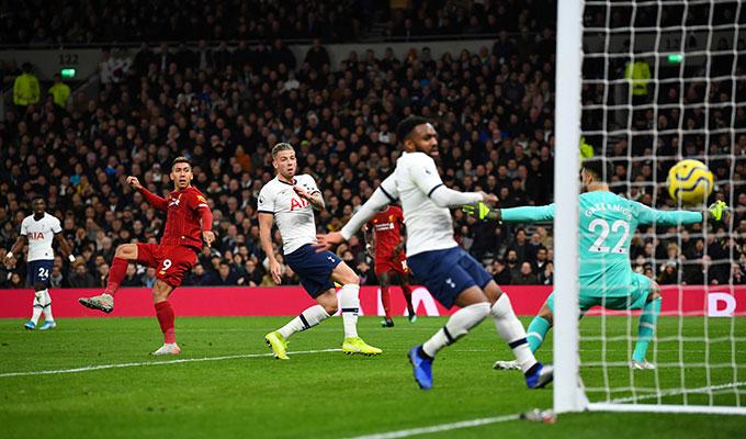 Firmino ghi bàn duy nhất mang về chiến thắng 1-0 cho Liverpool trước Tottenham
