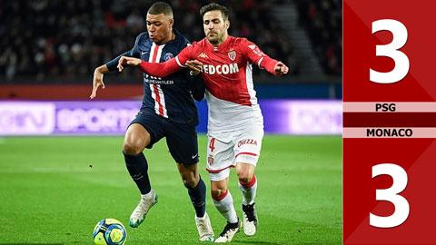 PSG 3-3 Monaco(Vòng 20 LigeOne 2019/20)