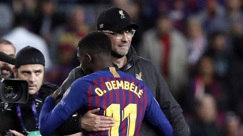 HLV Klopp rất muốn có Dembele để tăng cường hàng công Liverpool cho những mùa giải tới