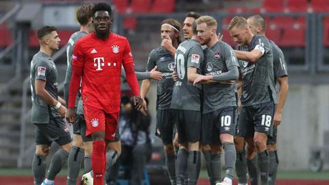 Bayern thua sốc 2-5 trước Nuernberg