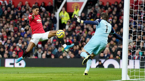Rashford (trái) ghi 2 bàn để đóng góp vào màn thị uy sức mạnh của Man United trước Norwich