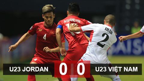 U23 Jordan 0-0 U23 Việt Nam: 1 điểm nhọc nhằn của U23 Việt Nam