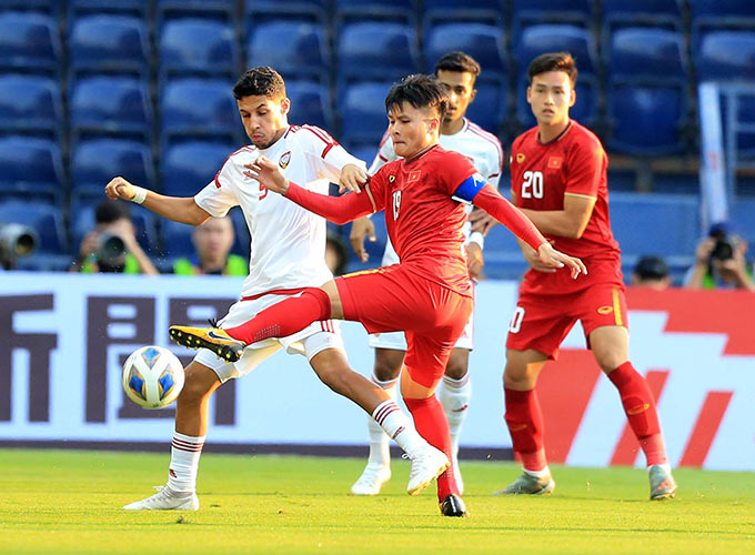 Ali Saleh có màn trình diễn ấn tượng trước U23 Việt Nam - Ảnh: Minh Tuấn