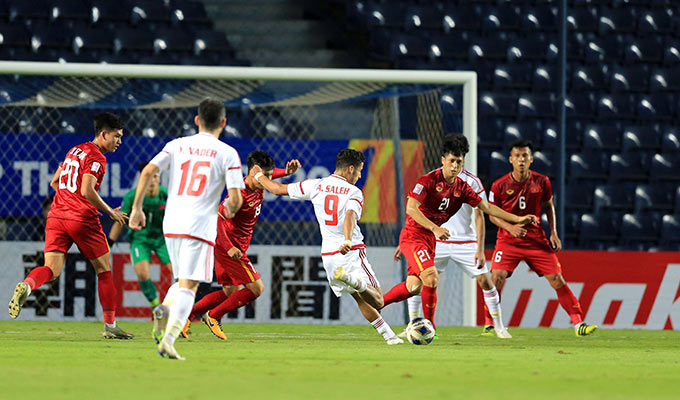 Đình Trọng gần như chắc chắn sẽ đá chính trận quyết định với U23 Jordan - Ảnh: Minh Tuấn