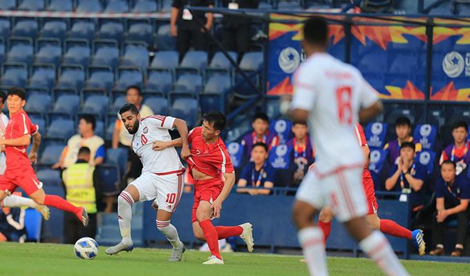 U23 Triều Tiên nhập cuộc đầy tự tin trước U23 UAE - Ảnh: Minh Tuấn