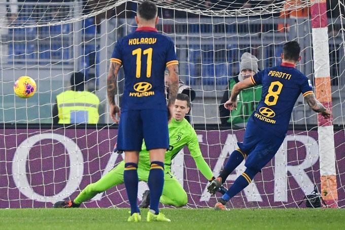 Perotti ghi bàn rút ngắn tỷ số xuống còn 1-2 cho Roma ở phút 68