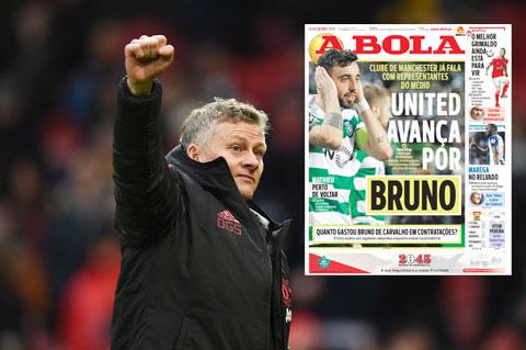 M.U của HLV Ole Solskjaer đang có cơ hội sở hữu Bruno Fernandes