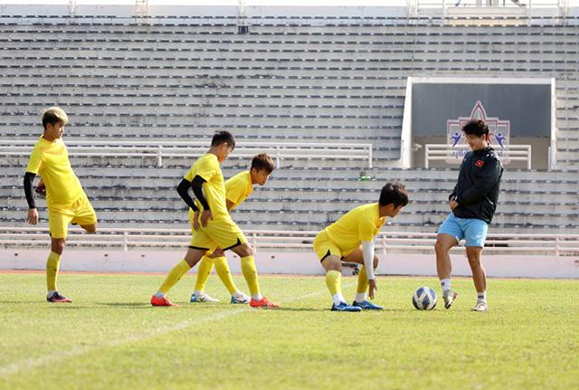 Thái độ tập luyện của các cầu thủ dự bị cho thấy U23 Việt Nam rất tập trung để có một chiến thắng trước U23 Triều Tiên