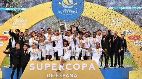Real vớ bẫm với chức vô địch Siêu cúp Tây Ban Nha
