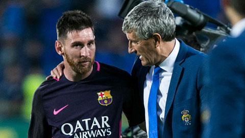 Tân HLV Setien từng lấy lòng Messi, khen sánh ngang Pele