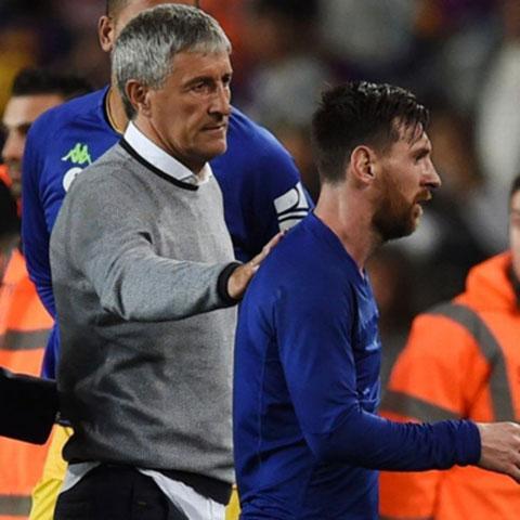 HLV Setien từng hết lời ngợi khen Messi